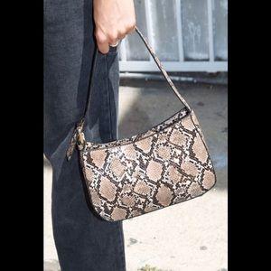 Brandy Melville  faux snake skin purse